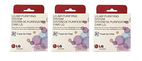LG LT120F Replacement Fresh Air Filter for Refrigerators - 3 packs