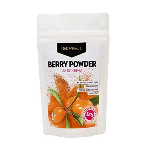 Berryfect Sanddorn Beerenpulver getrocknet Superfood Fruchtpulver aus nordischen Beeren ohne Zusätze 70g