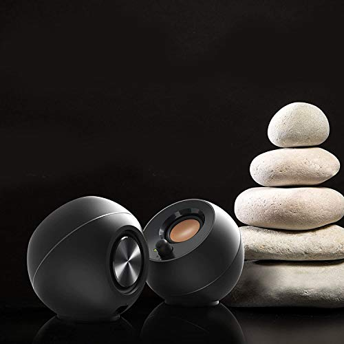 Creative Pebble 2.0 USB-Powered Desktop Speakers with Far-Field Drivers and Passive Radiators for Pcs and Laptops (Black) Illinois