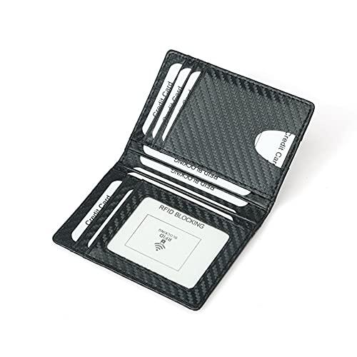 MiOYOOW Cartera para tarjetas de crédito, billetera para hombre RFID Blocking de piel para tarjetas de permiso de conducir documentos esenciales