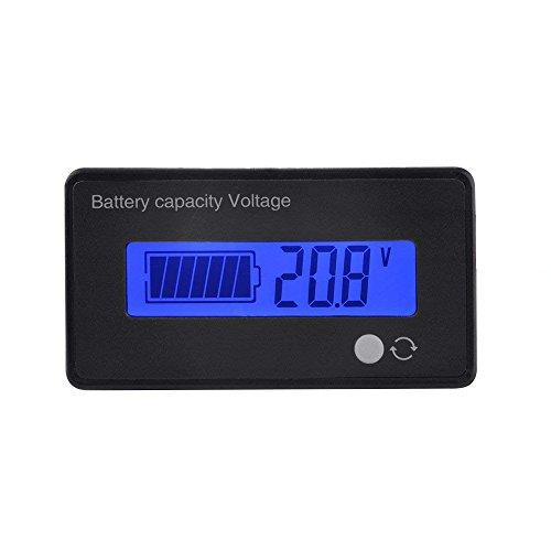 Batería de Ion de Litio de Plomo-ácido Batería Medidor de Capacidad Medidor de Voltaje Capacidad de la batería Indicador de Estado del voltímetro 8V-70V Panel indicador Panel LCD Monitor