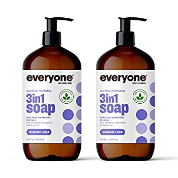 Everyone 3-in-1 Soap  Shampoo,Body Wash Bubble Bath and Shampoo Lavender and Aloe 32 Ounce 2 Count- Packaging May Vary