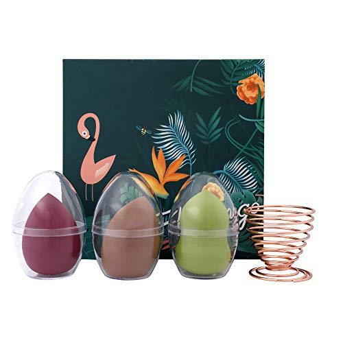 Make Up Schwamm, Flawless Beauty Schwämmchen Blender Foundation, Puff Sponge Set mit Schwammhalter und Geschenkbox für Liquid, Sahne, Concealer und Pulver