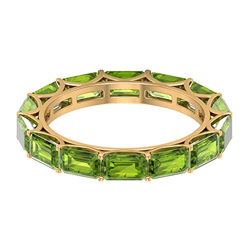 Rosec Jewels 14 quilates Yellow-oro. Achteck verde Peridot