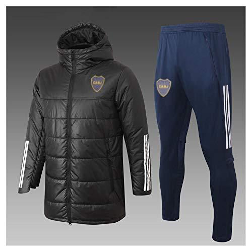 caijj Neue Herren Fußball Uniform Geschenk Baumwolle Kleidung Fußball kältesicher Fußballfan kältesicher Anzug Fußball Hoodie männlich-B23-XL