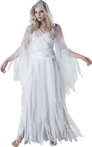 InCharacter Costumes Women'sHaunting Beauty Ghost Costume, White/Grey,...