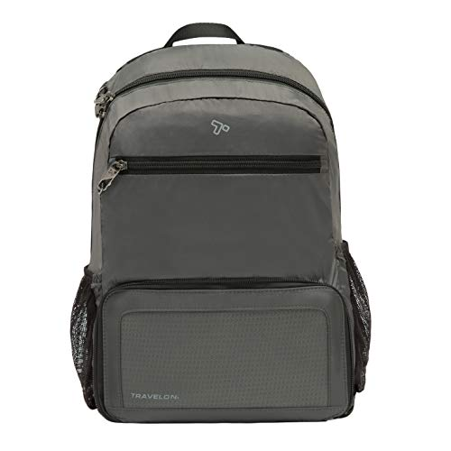 Travelon Anti-Theft Packable Backpack, Charcoal, One Size