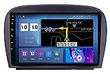 GTFHUH Android Car Radio 10 Pulgadas Pantalla táctil GPS Reproductor estéreo Compatible con Mercedes Benz R230 Plug and Play con Bluetooth Sat Navigation Soporte para teléfono móvil Mirr