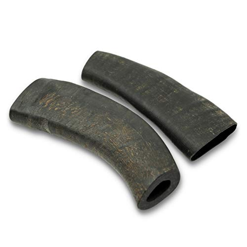 Wild Eats Water Buffalo Tuffie Horn Dog Chews - Large 2 Pack (All Natural, Single Source Protein, Grain Free Dog Treat, Dog Chews for Power Chewers)