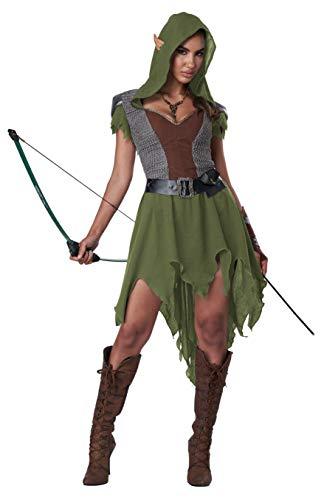 California Costumes Elven Archer Adult Costume, Medium Brown/Green