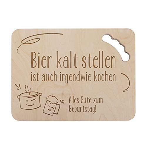 Herz & Heim® Männer-Geschenk Bierkastensitz Deckel mit persönlicher Gravur Bier kalt Stellen