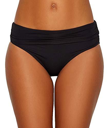Anne Cole Signature BLACK Live In Color Convertible Bikini Swim Bottom, US X-Large