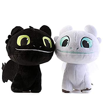 Moovi 2 PCS / Set How to Train Your Dragon 3 Toothless Light & Night Fury Soft Toy Features 7    16cm  Plush for Children