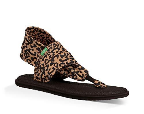 Sanuk Women's Yoga Sling 2 Prints Sandal, Leopard, 9 M US