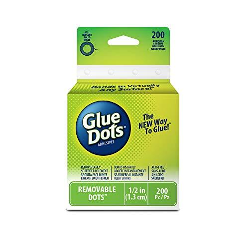 Glue Dots GD08248 verwijderbaar op rol, die op een groot aantal schone en droge oppervlakken zoals papier, kunststof, metaal, hout, glas en andere herbruikbaar zijn.