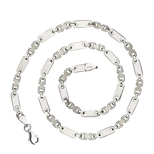 925 Silberkette: Plattenkette Silber 6,5mm 60cm - PLK-6.5-60