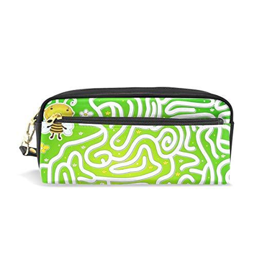 Federmäppchen, große Kapazität, Bienen-Garten, Labyrinth, Spiel Honig, Stifte, Schreibwaren, Tasche mit Reißverschluss