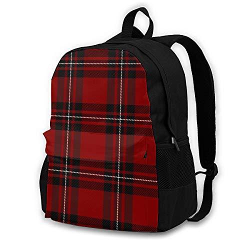 zhufeifan Mac Gregor Tartan Scottish Cage Plaid Backpack Bookbag Daypack Travel Hiking Camping School Laptop Bag for 16.5 Inch