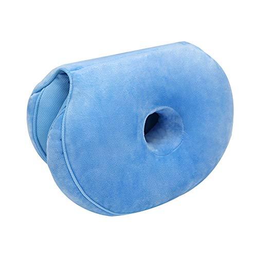 YAOTT Lift Hips Up-Sitzkissen, Dual Comfort-Kissen orthopädisches Memory Foam Stützkissen für Ischias, Steißbein und Hüftschmerzen Druckentlastung auf dem Rücken Himmelblau 45 * 31 * 10cm