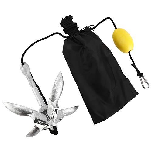 Artilife 3.3Lb Kayak Anchor Kit with 40Ft Rope, Buoy, Foldable Storage Bag, Grappling Anchor Kit for Kayaks, Canoes, Paddle Boards Fishing