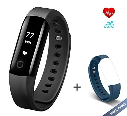 Arbily Fitness Tracker Vigorun4.0 Orologio Cardiofrequenzimetro Impermeabile IP68 Fitness Smart Watch Braccialetto Activity Tracker con allarme/Pedometro/calorie/Sleep Tracker cinta BLUE è un dono