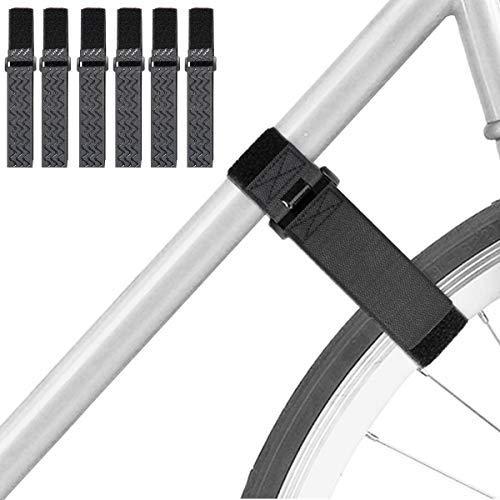 6 unidades de correas estabilizadoras reutilizables para ruedas de bicicleta, correas ajustables de velcro para fijar neumáticos de bicicleta