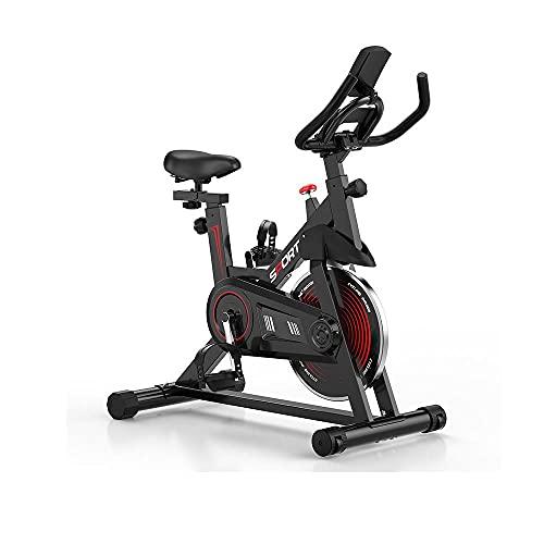 TKSE Bicicleta estática, bicicleta de ciclismo para interiores, bicicleta deportiva para interiores, bicicleta estática para ejercicio profesional, bicicleta para ejercicios en casa, cardio, gimnasio