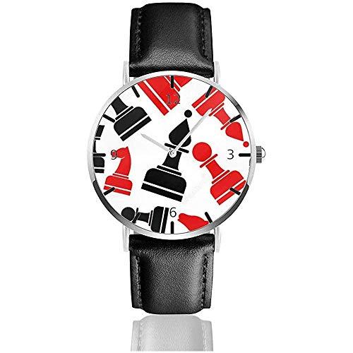 Reloj de Pulsera Patrón de ajedrez Reloj de Cuarzo Casual clásico Relojes para Hombres Mujeres
