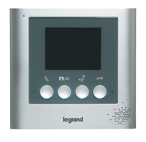 Legrand LEG369105 - Pantalla para portero automático (3,5', aluminio, cable de 1,80 m), color gris