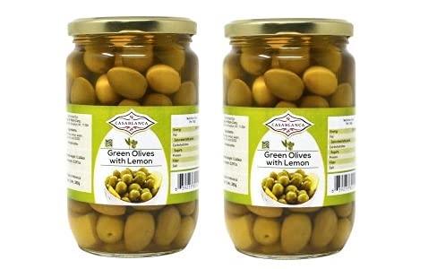 Casablanca Green Olives with Lemon Max 50% OFF Genuine Free Shipping Jars 2 380g OZ 25.397