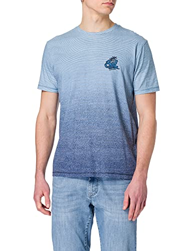 Pioneer T- Shirt Rundhals Degradé, Bleu foncé, L Homme