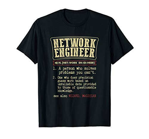 Network Engineer Funny Dictionary Definition T-Shirt