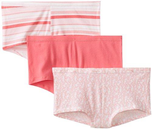 Hanes Women's 3 Pack Comfortsoft Cotton Stretch Boy Brief, Assorted,6