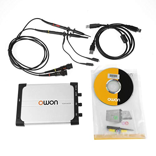 OWON PC Osciloscopio 25Mhz Ancho de Banda Dual-channel USB Basado en PC Digital Almacenamiento de Osciloscopio Virtual, Analizador de Espectro, Registrador de Datos con Diseño Portátil