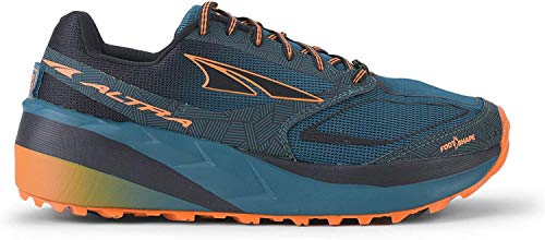 Altra Men's Olympus 3.5 Trail Running Shoe, Green/Orange - 7 M US