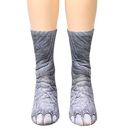 NCONCO Adulte Enfants 3D Animal Patte Chaussettes Chat Tigre Pieds Imprimer Pied Équipage Chaussettes Élastique Bonneterie