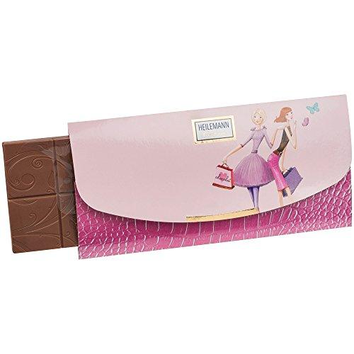 Heilemann Confiserie Girls Clutch Bag Handtasche 80 g Edelvollmilch Schokolade