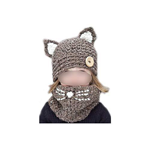Mannelijke Vrouwelijke Kat Sjaal Cap Dier Kat Oordopjes Hoed Hand Gebreide Warme Hals Hoed Winter Meisje Jongen Hoed