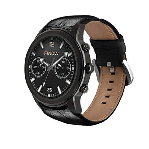 HX0945 LEM5 FINOW X5 Bluetooth Wasserdicht Smartwatch WIF Herzfrequenz 3G-SIM-Karte Für Anrufe Ist Für IOS Android 5.1,Schwarz