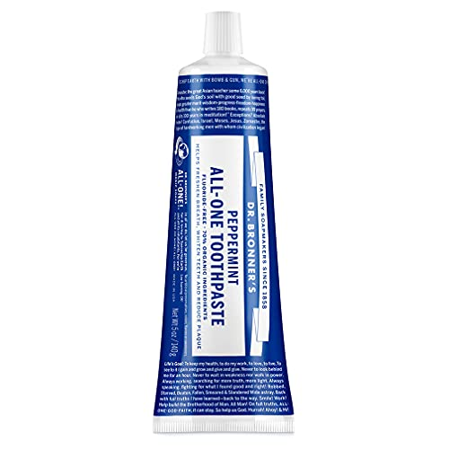 Dr. Bronner's - All-One Toothpaste (Peppermint, 5 ounce) -...