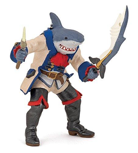 Papo Pirate 39460-Figura de tiburón, Multicolor (39460)