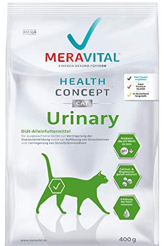 MERAVITAL Urinary Katzenfutter trocken 1 x 400 g für Katzen zur Förderung der Wasseraufnahme und Spülung bei Harnwegserkrankungen