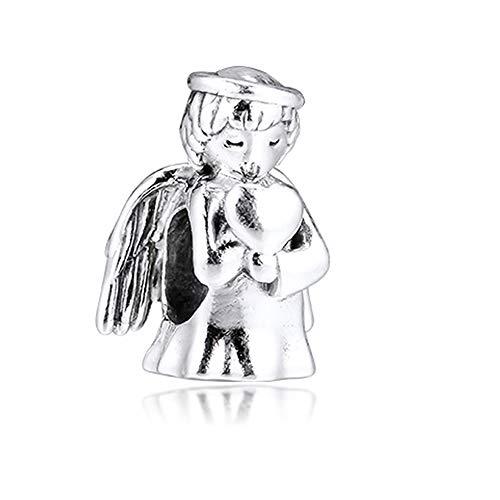 COOLTASTE 2019 Winter Angel of Love, charm in argento 925, fai da te, adatto per braccialetti Pandora originali