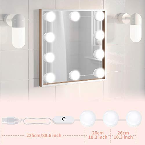 Vanity Mirror Lights USB Cable Hollywood Mirror Lights 10 Bulbs
