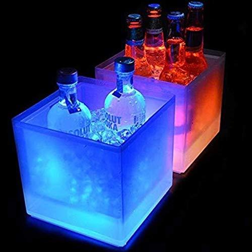 Ice Wine Bucket Partido LED Cubo De Hielo, Bebidas De Hidromasaje, Beba Champagne Cooler, Beverage Chiller Bin, Vino De Hidromasaje Chiller, Bebida del Partido Chiller