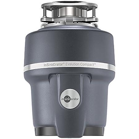 InSinkErator Compact Evolution - Triturador de basura con tecnología Soundseal de 3/4 HP (caballos de fuerza) Gris