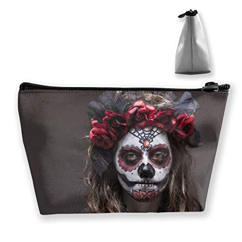 Trousse de maquillage en forme de tête de mort pour femme - Pour ranger en toute sécurité le maquillage, les produits de toilette, les cosmétiques et les voyages