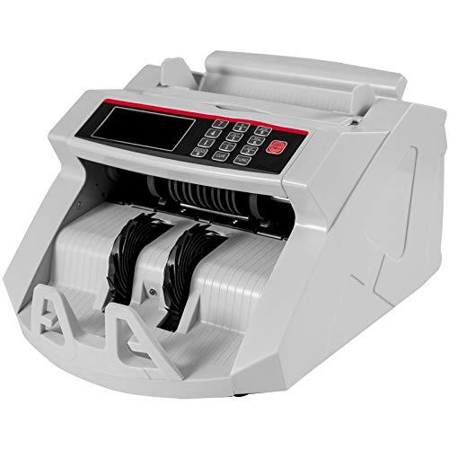 Mophorn 2829A Geldzählmaschine Münzen 1000 Banknoten pro Minute Geld Zähler Maschine Geldzählung Falschgelderkennung für Privathaushalte Unternehmen