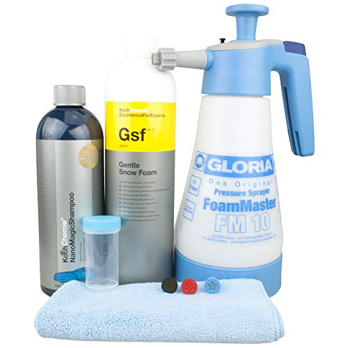 DFT Gloria FM10 Set mit Koch Chemie Gentle Snow Foam Nano Magic Shhampoo Messbecher & Tuch