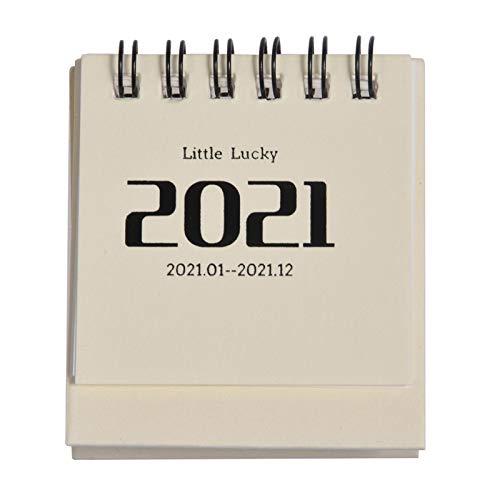 Aosong Calendario de escritorio pequeño 2021 Mini calendario mensual de escritorio, calendario académico de pie para el año académico, decoración de escritorio creativa